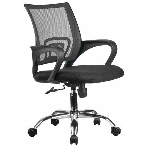 Компьютерное кресло Рива RHC 8085 JE офисное, обивка: текстиль, цвет: черный компьютерное кресло рива 8074 офисное обивка текстиль искусственная кожа цвет оранжевый
