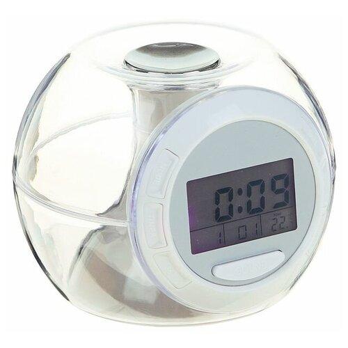 Часы с термометром Luazon 2261916 белый/прозрачный