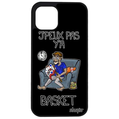 """Чехол на iPhone 12 pro max, """"Не могу - смотрю баскетбол!"""" Карикатура Повод"""