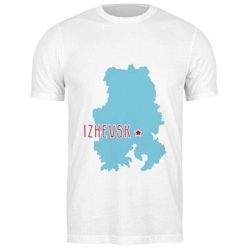 Футболка классическая Республика Удмуртия. Ижевск #2192918 (цвет: БЕЛЫЙ, пол: МУЖ, качество: ЭКОНОМ, размер: L)