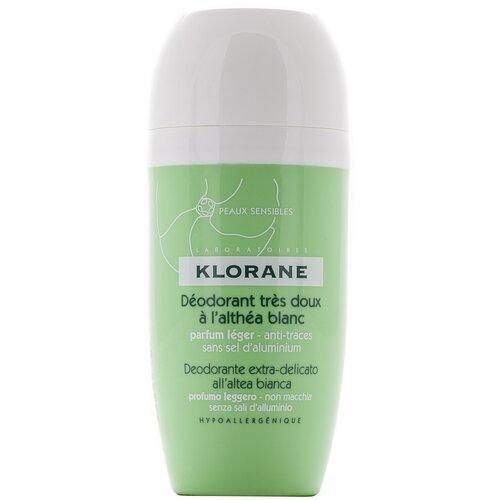 Klorane дезодорант, ролик, с белым алтеем для чувствительной кожи, 40 мл недорого