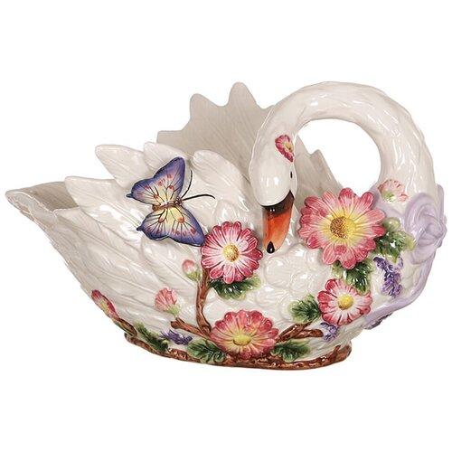 Фото - Lefard Фруктовница Лебедь 44 х 24 см белый lefard фруктовница корейская роза 33 5 х 19 х 21 см белый