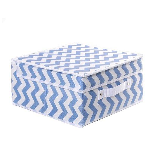 доляна короб для хранения с крышкой 30 х 28 х 15 см фабьен Доляна Короб для хранения с крышкой 30 х 30 х 12 см зигзаг