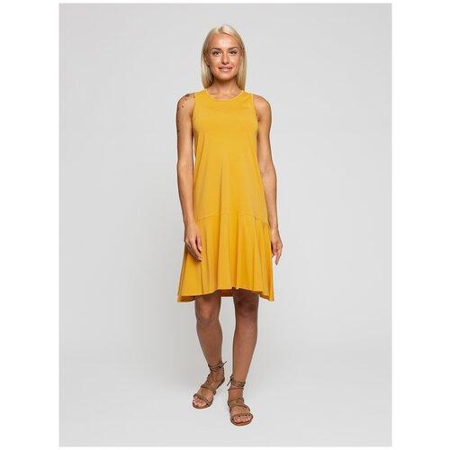 Женское легкое платье сарафан, Lunarable горчичное, размер 44