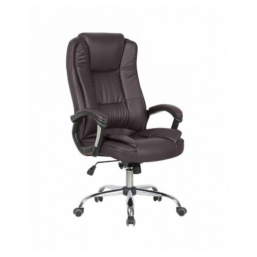 Компьютерное кресло College CLG-616 LXH для руководителя, обивка: искусственная кожа, цвет: темно-коричневый