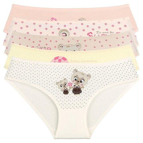 Купить Трусы для девочек 4171GL, Цвет: Микс, Размер: 2/3, 5шт. в упаковке, Donella, Белье и купальники