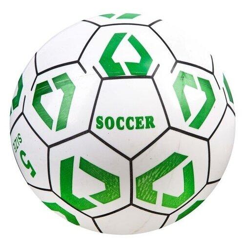 Купить Мяч Soccer Champions, 22 см, белый/зеленый, Shenzhen Jingyitian Trade, Мячи и прыгуны