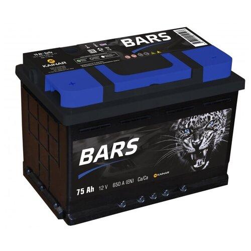 Автомобильный аккумулятор BARS 6СТ-75 АПЗ п.п.
