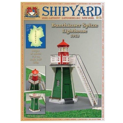 Фото - Сборная картонная модель Shipyard маяк Bunthauser Spitze Lighthouse (№54), 1/87 сборная картонная модель shipyard маяк pellworm lighthouse 61 1 87