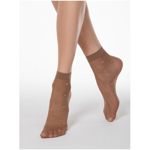 Капроновые носки Conte Elegant 16С-124СП, размер 23-25, bronz