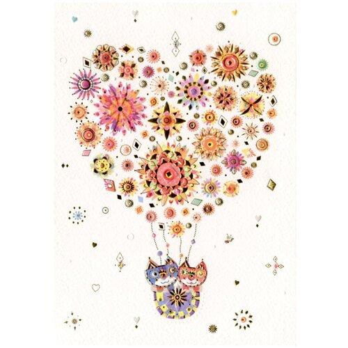 Открытка TURNOWSKY «Воздушный шар-сердце с котами» (MO6580)