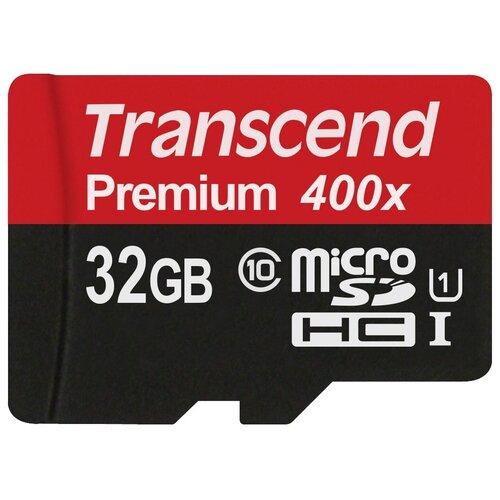 Фото - Карта памяти Transcend TS*USDCU1 400x 32 GB, чтение: 60 MB/s карта памяти 32gb transcend cf 400x