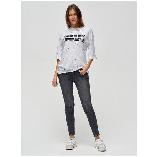 Женские футболки с надписями Белый, 46