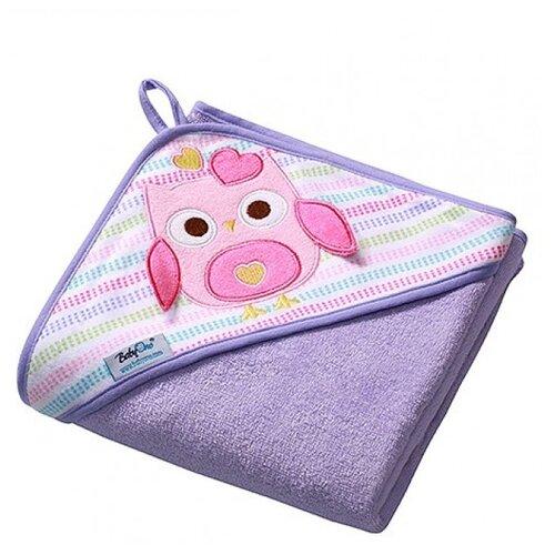 BabyOno Полотенце Soft с капюшоном банное 100х100 см фиолетовый