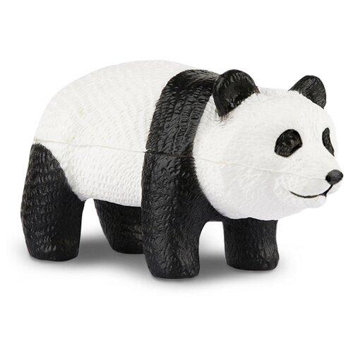 Игрушка-мялка Maxitoys Панда 11 см белый/черный