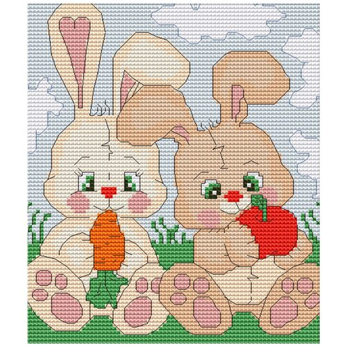 Фото - Набор для вышивания Зайчики , Luca-S 15 x 17 см ( B195 ) набор для вышивания улитка luca s 9 5 x 5 см b005