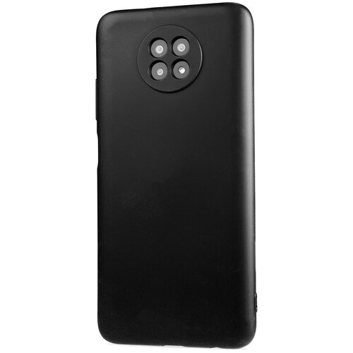 Фото - Силиконовый матовый непрозрачный чехол с нескользящим софт-тач покрытием для Xiaomi RedMi Note 9T черный защитный чехол pero для xiaomi redmi 5 софт тач черный