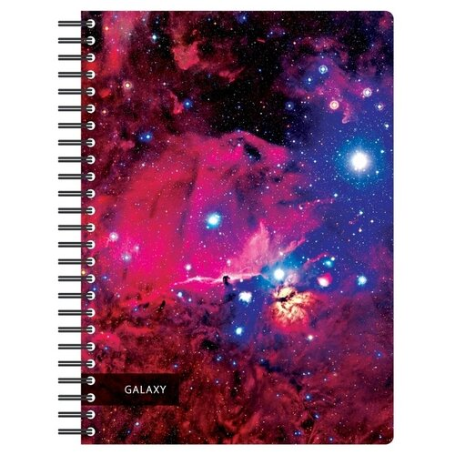 Купить Бизнес-тетрадь Attache 120 листов, А4, Space Galaxy, 300*210 мм, 70 г/м2, белый, карман (487289), Тетради