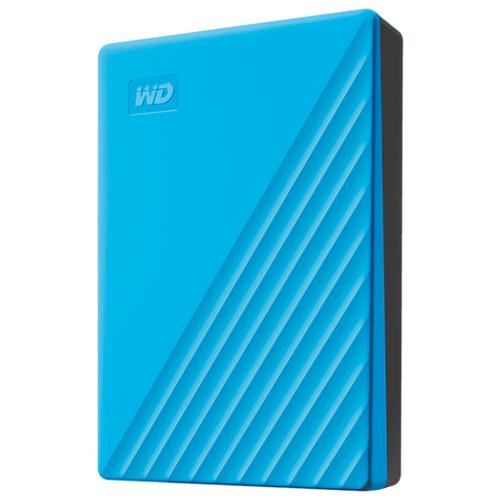 Внешний HDD Western Digital My Passport (WDBYVG/WDBPKJ) 2 TB, голубой внешний hdd western digital my passport ultra wdbc3 wdbft 1 tb серебристый