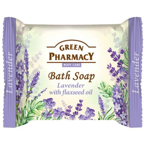 Купить Мыло кусковое Green pharmacy Лаванда с маслом льна, 100 г