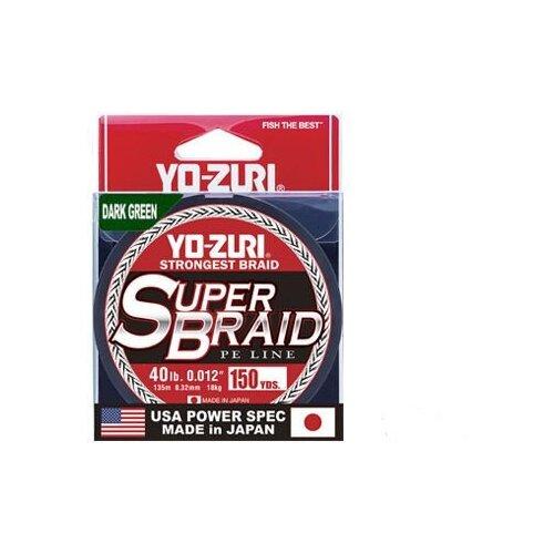 Шнур плетеный Yo-Zuri PE SUPERBRAID 150YDS Dark Green 10Lbs (0.15mm)