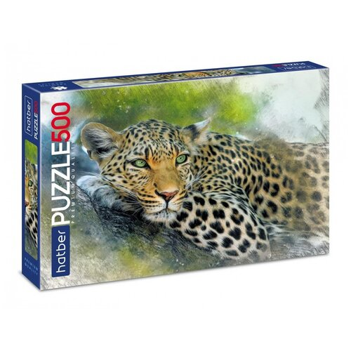 Пазл Hatber Premium Леопард 500 элементов, 480х330мм 500ПЗ2-26183