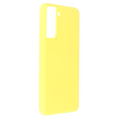 Фото - Чехол Pero для Samsung Galaxy S21 Liquid Silicone Yellow PCLS-0037-YW чехол pero для samsung s21 plus liquid silicone yellow pcls 0039 yw