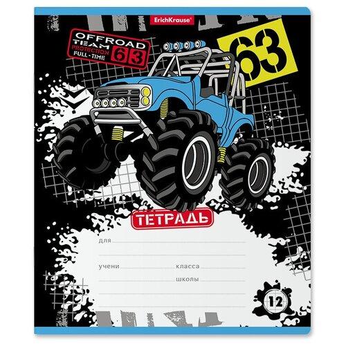 Купить ErichKrause Тетрадь Track Car А5+ 170х203 мм 12 лна скрепке 60 г/кв.м клетка 48816 19 шт., Тетради