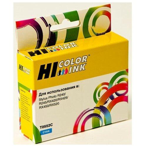 Фото - Картридж Hi-Black (HB-T0552) для Epson Stylus Photo R240/RX420/RX520, C картриджи для принтера epson stylus photo rx420 rx425 rx520 r240 r245 с чипом 0551 4 шт