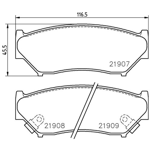 Дисковые тормозные колодки передние NISSHINBO NP9005 для Suzuki Vitara, Suzuki Jimny, Suzuki Grand Vitara, Chevrolet Tracker (4 шт.)