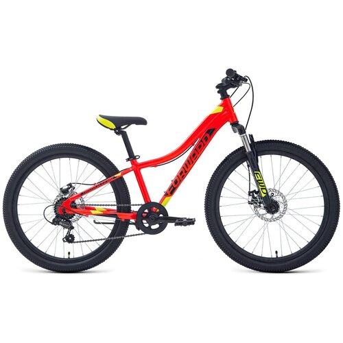 Велосипед Forward Twister 24 2.0 DISC (Красный/ярко-зеленый 12) палатка tramp lite twister 3