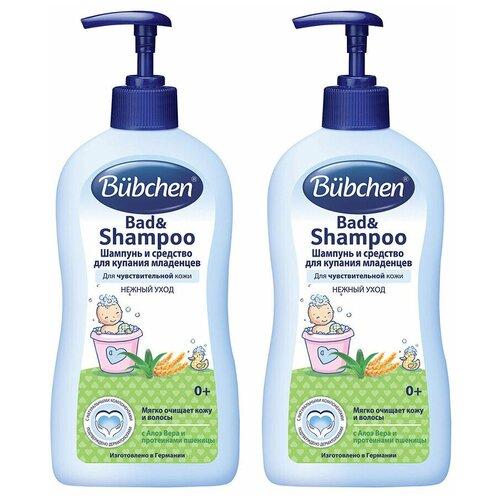Купить Bubchen Шампунь и средство для купания младенцев 400 мл (2 шт в наборе), Средства для купания