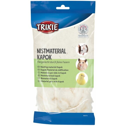 Материал для гнезд, капок, 40 г, кремовый, Trixie (товары для животных, 60713)
