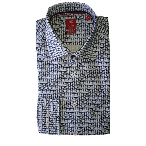 Рубашка pure размер M белый/синий