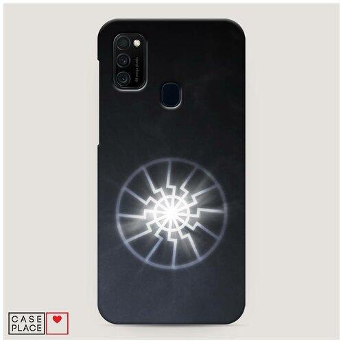 Чехол Пластиковый Samsung Galaxy M21 Черное солнце