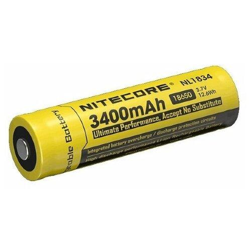 Фото - Аккумулятор Nitecore NL1834 18650 Li-ion 3.7v 3400mAh аккумулятор nitecore nl1665r