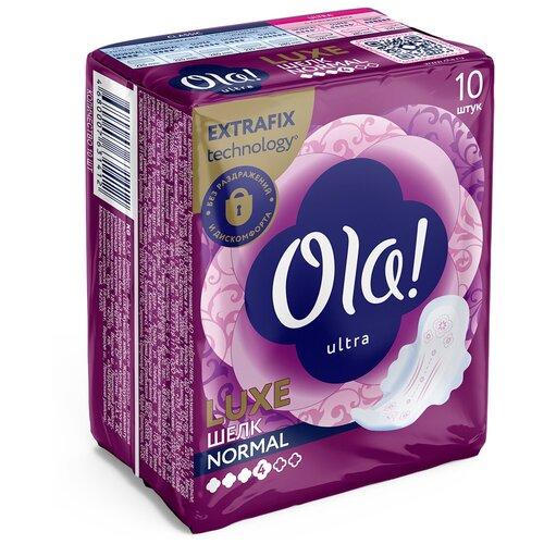 Фото - Ola! прокладки Ultra Luxe Normal Мягкий шелк, 4 капли, 10 шт. ola прокладки ultra normal шелковистая поверхность 4 капли 10 шт