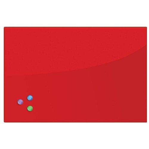 Доска стеклянная магнитно-маркерная BRAUBERG 236746 (40х60 см) красный