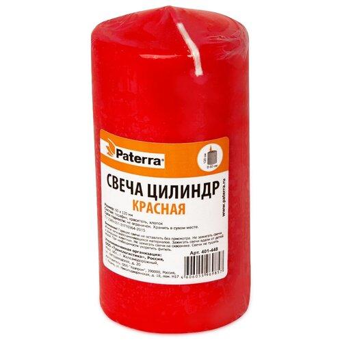 Свеча Paterra цилиндр 6*12 см красная