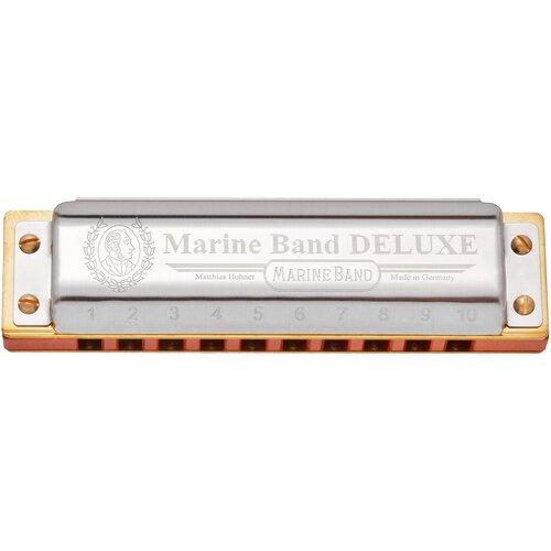 Фото - Губная гармошка Hohner Marine Band Deluxe 2005/20 (M200509X) Ab, серебристый губная гармошка hohner blues harp 532 20 ms m533096x ab бежевый