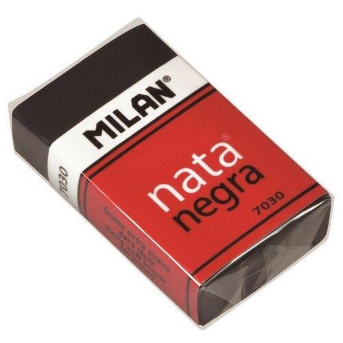 Купить Ластик пластиковый Milan 7030, мягкий, черный, в карт.держателе 4 штук, Ластики