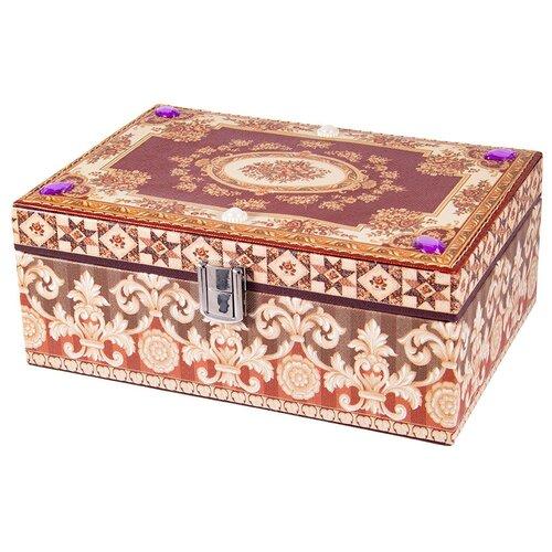 Русские подарки Шкатулка для ювелирных украшений 84335 коричневый русские подарки шкатулка для ювелирных украшений 79212 белый