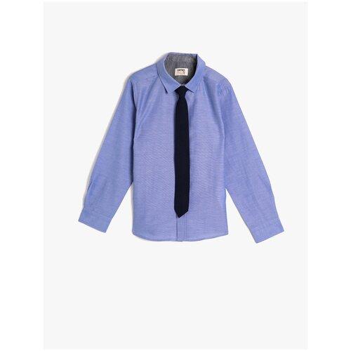 Рубашка KOTON размер 4-5 лет (104-110), синий
