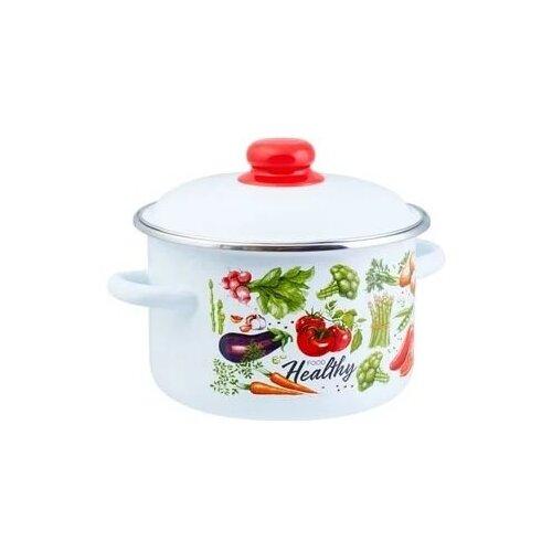 Кастрюля Appetite Veggies 1RD221M 5.5л цилиндрическая эмаль