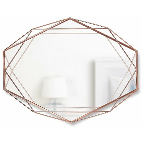 Зеркало Umbra Prisma 43х56.8 медь в раме зеркало umbra prisma 56х43 в раме