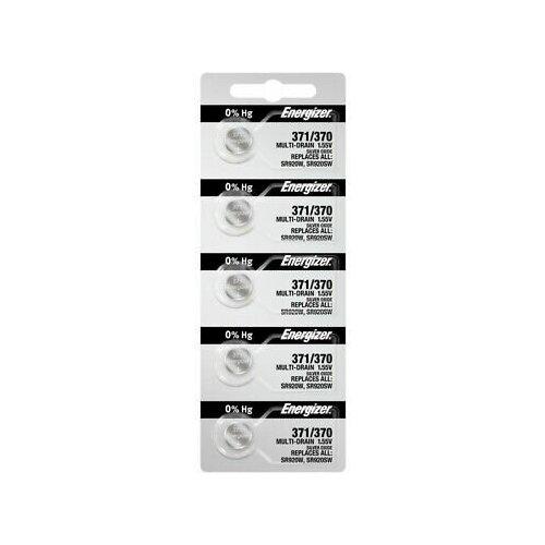 Фото - Серебряно-цинковая батарейка для часов Energizer 371 5 шт серебряно цинковая батарейка для часов energizer 371 2 шт