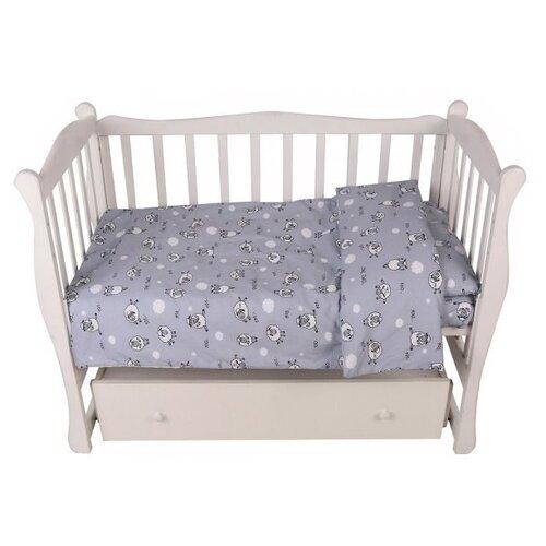 Amarobaby комплект в кроватку Exclusive Soft Collection 101 Барашек (3 предмета) серый amarobaby комплект в кроватку exclusive soft collection папоротники 7 предметов белый зеленый