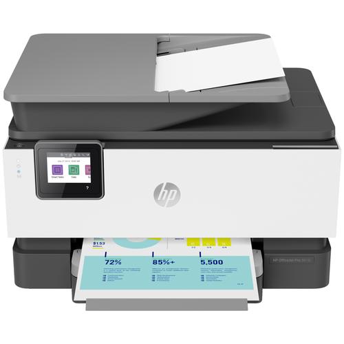 Фото - МФУ HP OfficeJet Pro 9010, белый/серый мфу струйный hp officejet pro 9010 aio a4 цветной струйный белый [3uk83b]