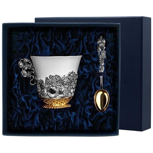 Фото - АргентА Набор чашка чайная Натюрморт+ ложка (2 предмета) с позолотой аргента набор чашка чайная виноград ложка 2 предмета