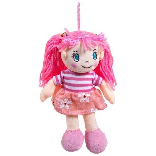 Фото - Мягкая игрушка ABtoys Кукла в розовом платье 20 см мягкая игрушка abtoys кукла рыжая в голубом платье 20 см
